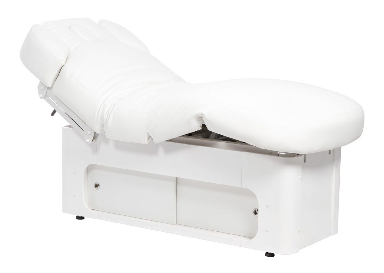 KEID WARM SPA massage couch in wood 4 heat-heated motors with storage drawers