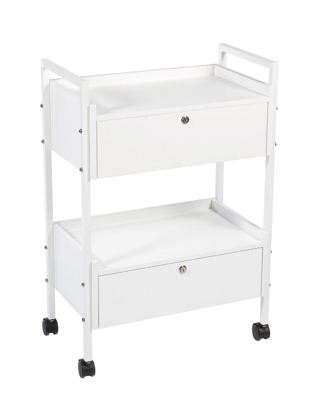 TAU Trolley 2 shelves with 2 drawers with key