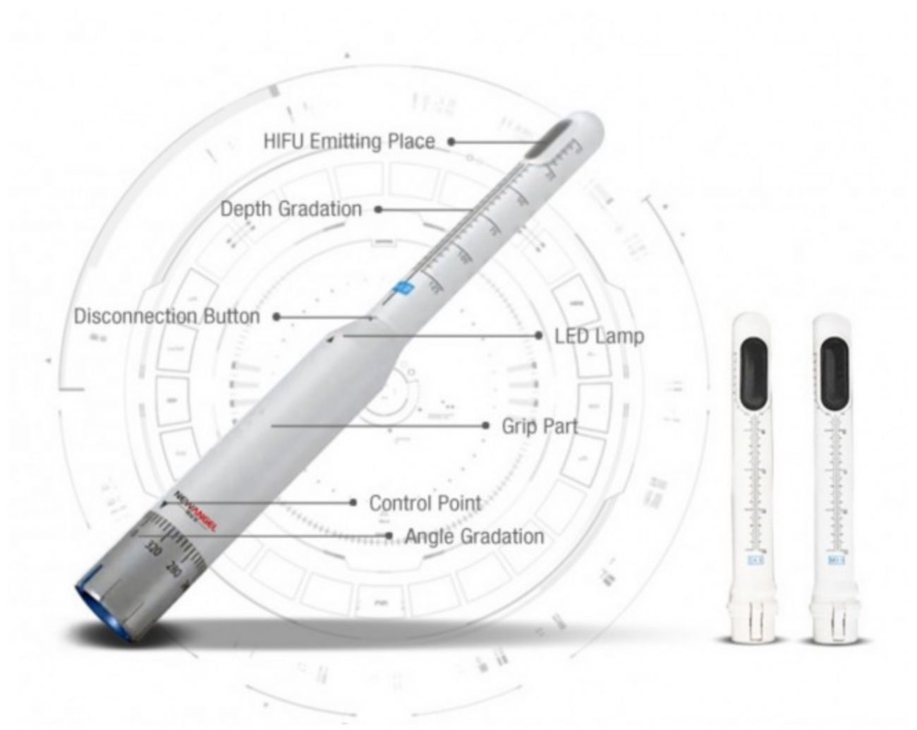 Hi-fu 2in 1<br />- 2 handpieces ( 1 face - 1 vaginal)<br />- Face Cartridges: 1.5mm / 3mm / 4.5mm / 8mm(Optional) / 13mm(Optional)<br />- Vaginal Cartridges: 3mm / 4.5mm<br />- Cartridges Life: 10,000 shots<br />- Maximum Power: 200 W